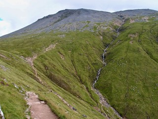 Trail on Ben Nevis,Scotland, West Highlands