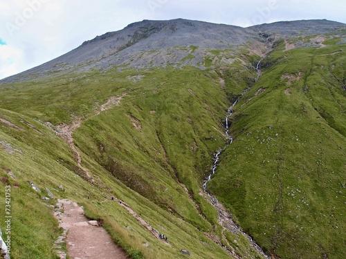 Foto op Canvas Heuvel Trail on Ben Nevis,Scotland, West Highlands