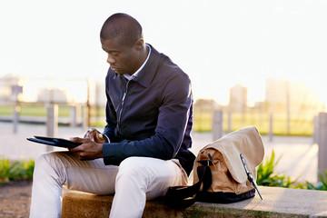tablet park man