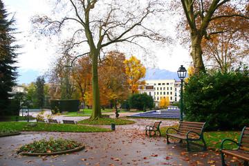 le parc d'Aix-Les-Bains