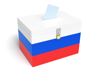 Russian Flag Ballot Box