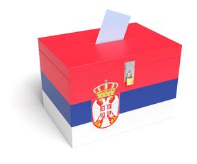 Serbian Flag Ballot Box