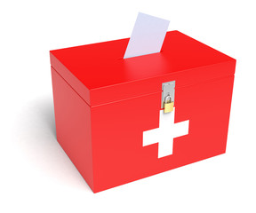 Swiss Flag Ballot Box