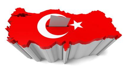 Turkish Map Flag Ballot Box