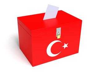 Turkish Flag Ballot Box