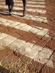 crosswalk line, strisce pedonali