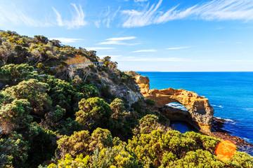 seascape,landscape and skyline ofthe great ocean road,australia