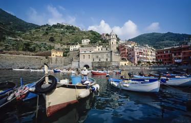 Italy, Liguria, Tyrrhenian Sea, Le Cinque Terre, Vernazza