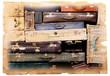 valigie vintage in cartolina