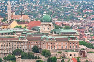 Budapest, Hungary: Royal Palace of Buda and Matthias church from