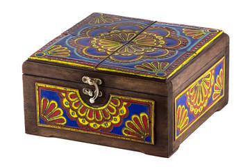 Image of wooden brown casket