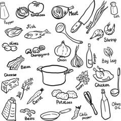 Dinner doodle set
