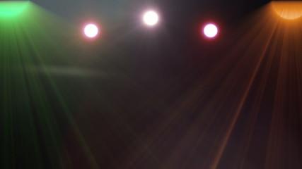 Flash light disco party. Top light.