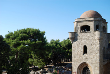 The church of the monastery of Filerimos on the island of Rhodes