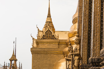 Gold Giant Guardian in Wat Phra Kaew temple ,bangkok,thailand