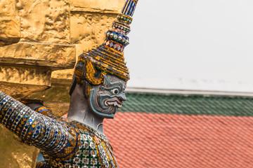 Giant Guardian in Wat Phra Kaew temple ,bangkok,thailand