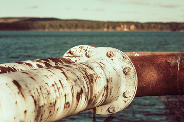Old rusty fuel pipes
