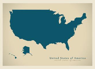 Modern Map - United States of America USA