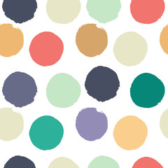 seamless vector pattern with colored circles