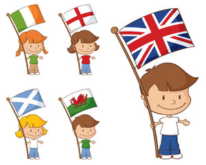 UK and Eire Flags