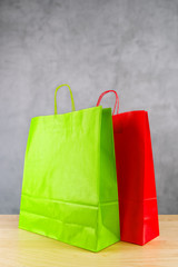 Green And Red Shopping Bags