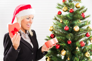 Christmas businesswoman