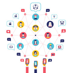 Social network Technology Business and Communication concept