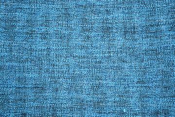 Detail van een blauwe zachte deken