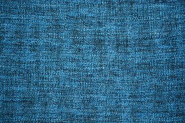 Deatail van een blauwe zachte deken
