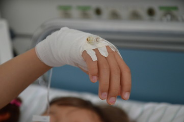 Handverband, Krankenhaus