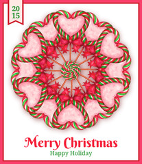 sugar candies  holiday card