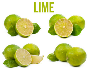 set of four compositions from lime isolated
