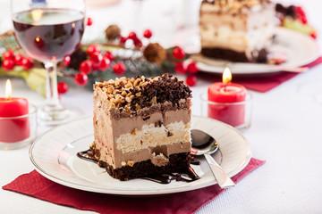 Piece of meringue cake