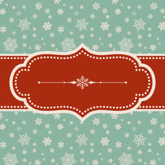 Retro Snowflake Background