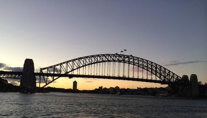 Puente de Sidney al ocaso