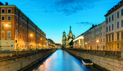 Griboyedov Canal (Kanal Griboyedova) in St. Petersburg, Russia