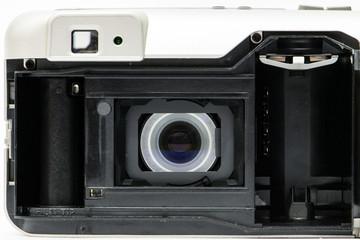 Interno macchina fotografica analogica