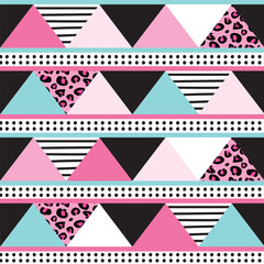 colorful triangle pattern vector illustration