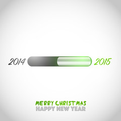 New year 2015 is loading