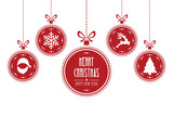 Fototapety christmas ball red isolated background