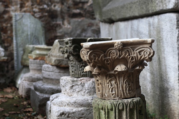 Fragment of old column