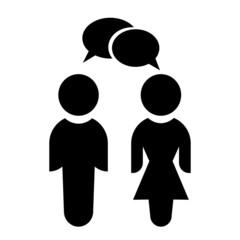 Векторная иконка с изображением женщины и мужчины