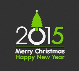 2015 christmas design with christmas tree