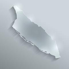 Aruba map flag glass card paper 3D vector