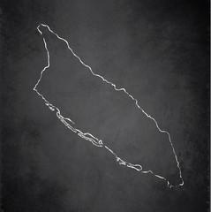 Aruba map blackboard chalkboard vector