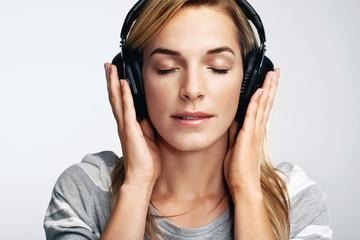 Music portrait woman