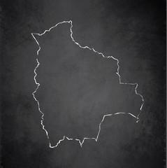 Bolivia map blackboard chalkboard vector