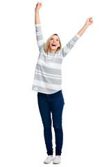 cheerful celebration woman