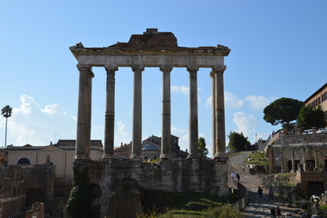 Roman Forum. Herbst