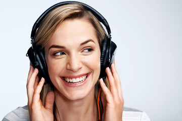 Music loving woman